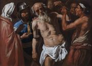 "Matthais Stomer (Ca.  1600 – after 1652?) ""The Martyrdom of St.  Bartholomew"" Oil on canvas 44 x 62 inches (111.8 x 157.5 cm)"